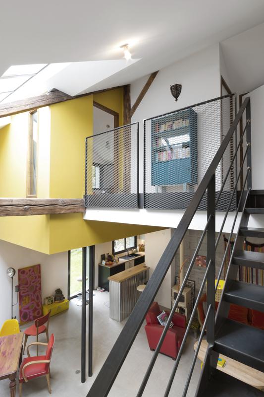 Loft escalier métallique