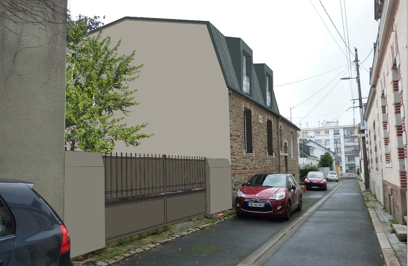 sur l vation r novation d 39 une maison nantes 44 architecte nantes lr architecture. Black Bedroom Furniture Sets. Home Design Ideas