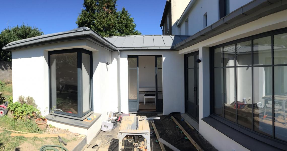 extension sur jardin / future terrasse