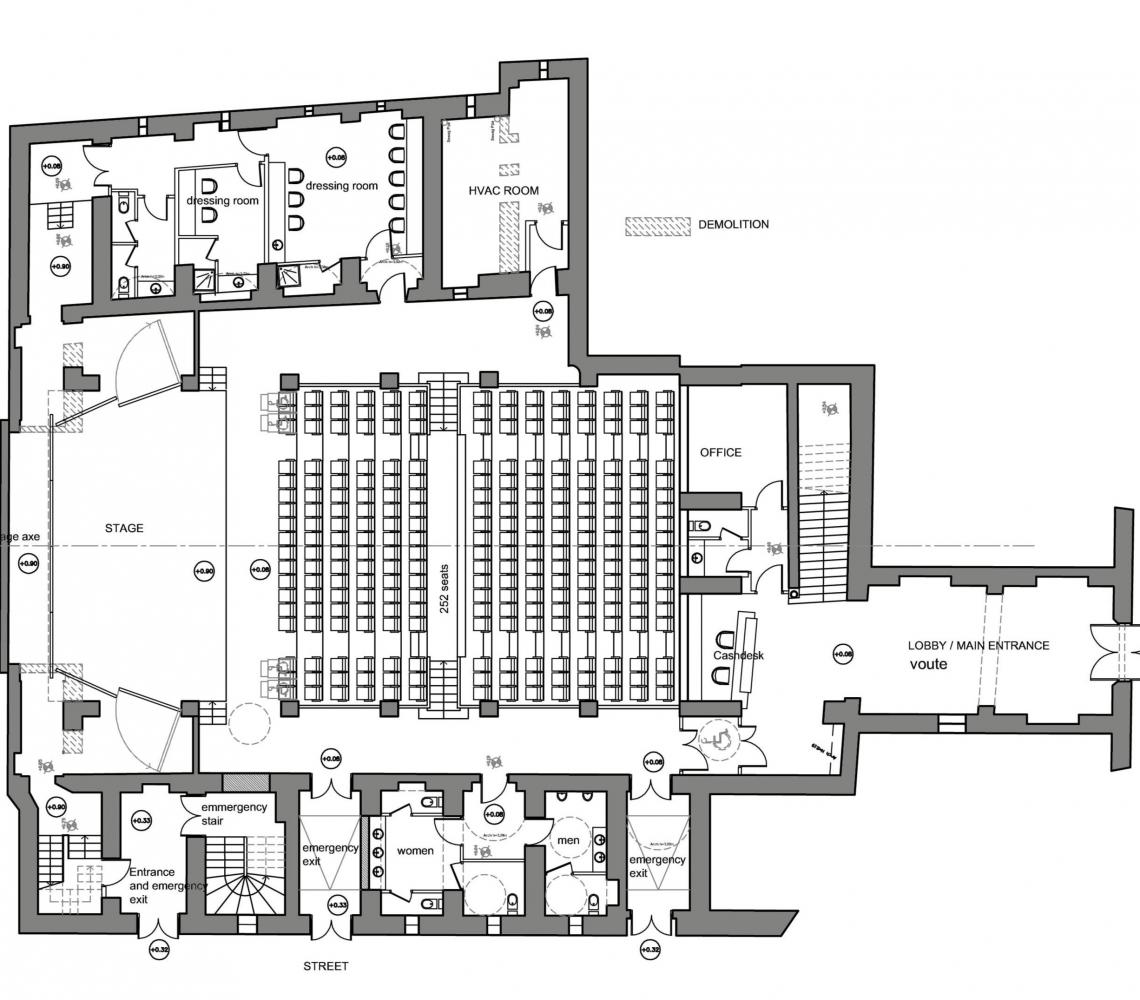Plan de la salle de concert